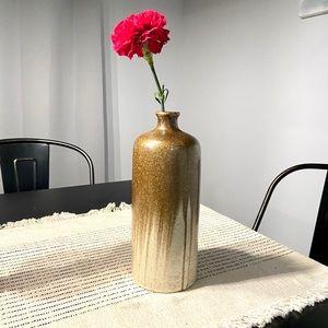 Gold & Cream Ceramic Vase